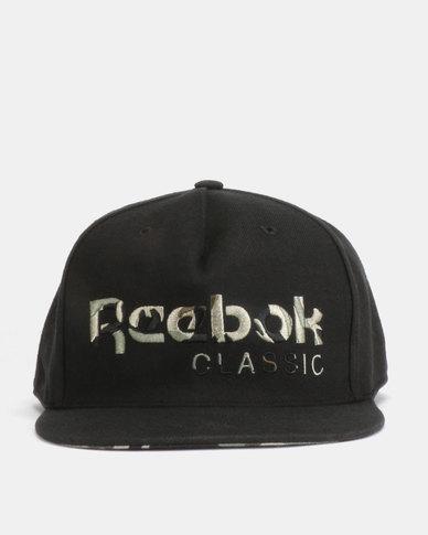 ba58f70f7150b Reebok CL Camo Cap Black
