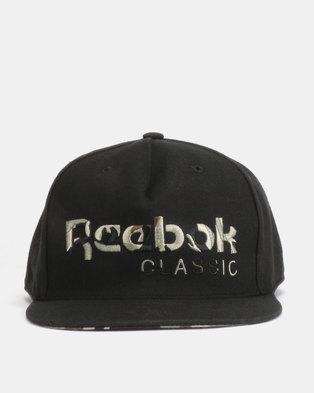 23b7196978d Reebok CL Camo Cap Black
