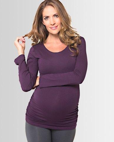 Lonzi&Bean MilkiMum Maternity & Breastfeeding Top Indigo