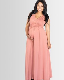 Lonzi&Bean MaxiMum Maternity & Breastfeeding Dress Dusty Rose
