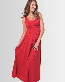 Lonzi&Bean MaxiMum Maternity & Breastfeeding Dress Cherry