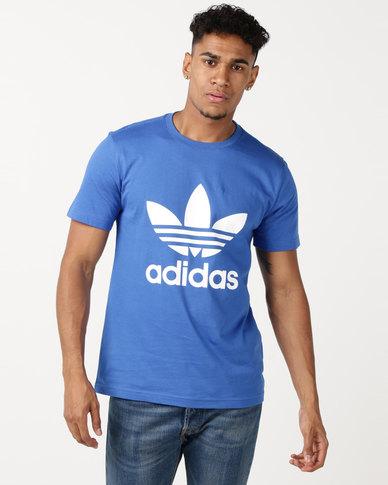 adidas Originals Mens ORG Trefoil Tee Blue/White