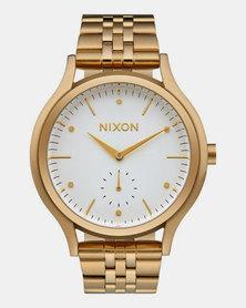 Nixon Sala Watch Gold White