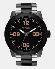 Nixon Corporal SS Watch Black/Rose Gold