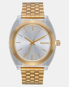 Nixon Time Teller Watch Light Gold Clear