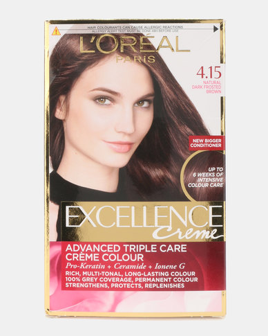 L'Oreal Excellence Creme Natural Dark Frosted Brown 4.15