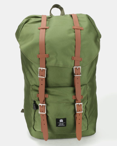 St Goliath Axel Backpack Green Tan