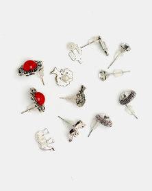 Lily & Rose 6 Pack Earrings Set Multi
