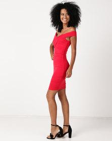 Sissy Boy Bardot Day Dress Red