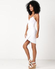 Sissy Boy Assymetrical Bodycon Dress White