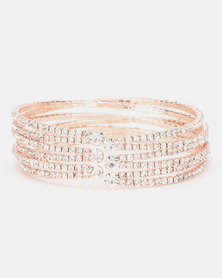 Queenspark Soft Diamante Cuff Gold-Toned