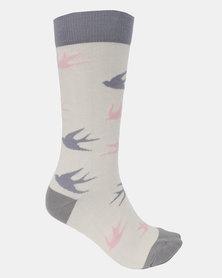 Sexy Socks Sexy Swallows Bamboo Socks Multi