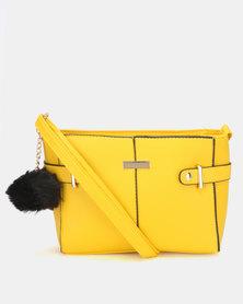 Legit Tab Buckle Side Crossbody Bag Yellow