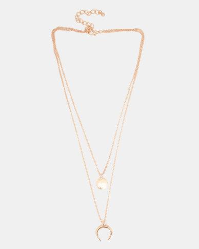Legit Layered Pendant Necklace Gold-Tone