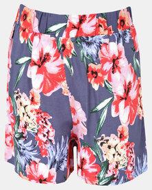 Legit Drapy Floral Shorts Multi