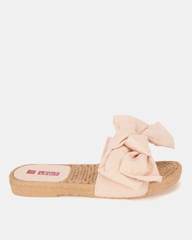 Legit Moc Espadrille Knotted Mule Sandals Blush