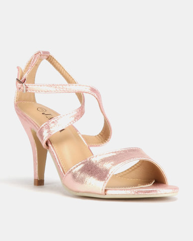 7188a26681ad Jada Glamour Low Heels Rose Gold