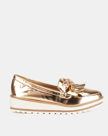 Dolce Vita Derby Slip On's Rose Gold