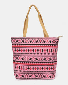 Utopia Canvas Print Bag Pink