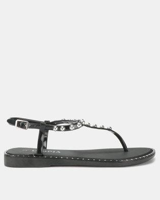 3efa0676507285 Utopia Studded Jelly Sandals Black