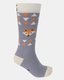 Sexy Socks Sexy Foxes Bamboo Socks Grey