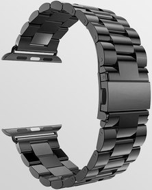 Gretmol Space Grey 3 Bead Link Apple Watch Replacement Strap