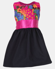 COTYLEDONS Kiddies Tsonga Dress Dark Pink