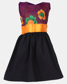 COTYLEDONS Kiddies Tsonga Dress Purple/Orange