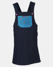 COTYLEDONS Kiddies Dungaree Denim Skirt Multi