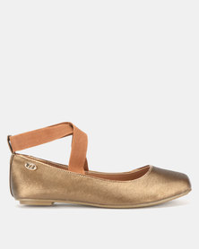 Bata Ladies Casual Flats Bronze