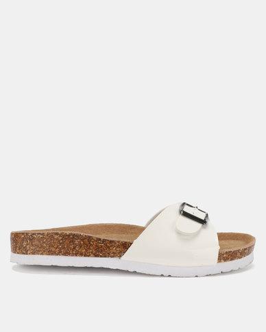 1676719307329f Bata Ladies Flats Sandals White