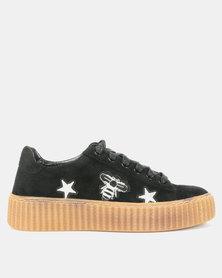 Bata Ladies Casual Sneakers Black