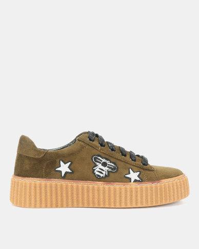 Bata Ladies Casual Sneakers Khaki