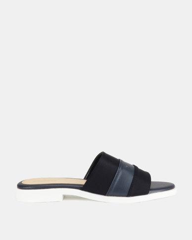 Bata Ladies Flats Sandals Navy