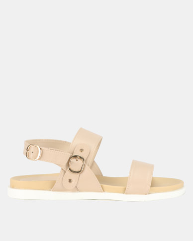 Bata Ladies Flats Sandals Nude
