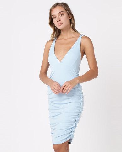 SassyChic Roxy Dress Powder Blue