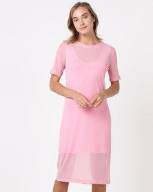 SassyChic Sports Luxe Dress Pink