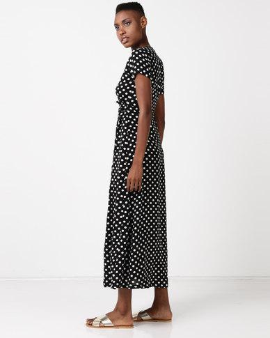 SassyChic Barbie Maxi Dress Black Polka Dot