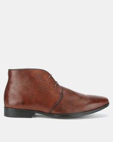 Bata Mens Formal Boots Brown