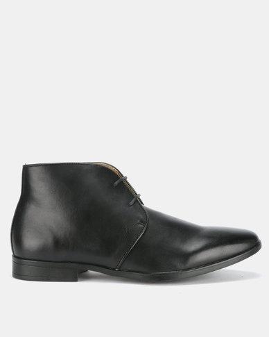 Bata Mens Formal Boots Black