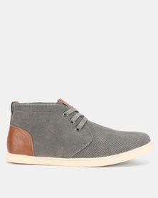 Bata Mens Casual Boots Grey