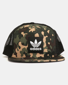 adidas Originals Camo Trucker Hat MULTCO
