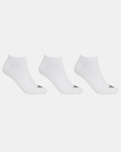 adidas Originals Trefoil Liner Socks WHITE/WHITE/BLACK