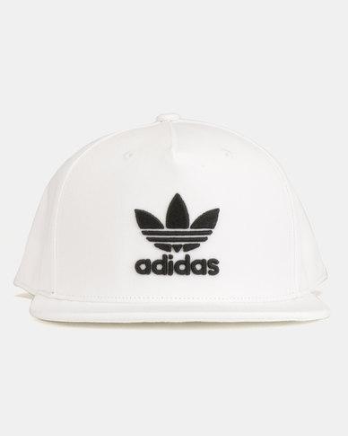 a2383debabc adidas Originals AC Cap TRE Flat Cap White Black