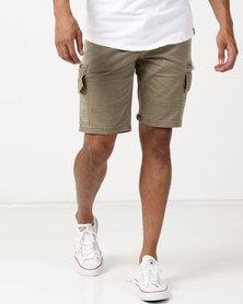 St Goliath Lynx Cargo Shorts Tan