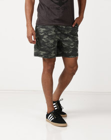 St Goliath Trench Pull On Shorts Camo