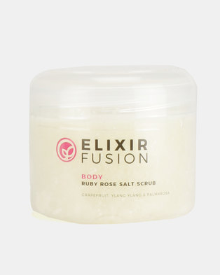 Elixir Fusion Ruby Rose Salt Scrub 250ml