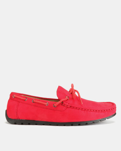 Utopia Casual Bow Moccasins Red