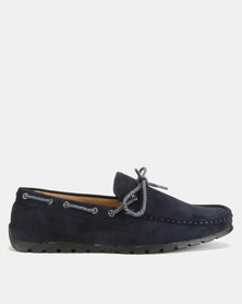 Utopia Casual Bow Moccasins Navy