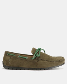 Utopia Casual Bow Moccasins Olive